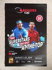 Rafael Nadal Novak Djokovic 3 ft (approx. 0.91 m)! Taza de plástico de tenis cartel Rogers Toronto Rafa