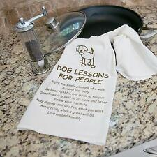 """100% Pre-washed Cotton Kitchen Towel 28"""" x 29"""" - Dog Lessons For People"""