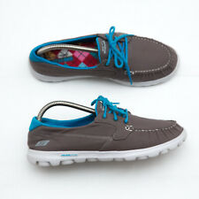 Skechers slip On The Go womens Loafers Walking Boat Shoes Size 9.5 grey 13563