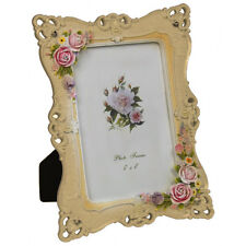 LACE - Decorative Roses Photo Frame - White / Pink ZCLPF11606PKWH