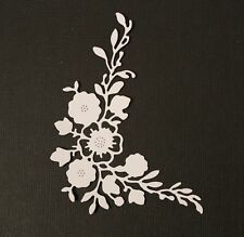 8 x Flowers Leaves Corner Flourish Die Cuts Card Making Toppers Scrapbooking