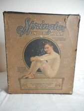 Antique Springtex Underwear Vintage Clothing Country Store Display Box Victorian