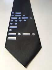 Morse Code Necktie ( Or Your Text In Morse Code), Black , New