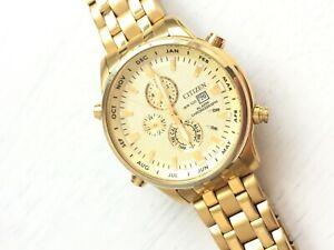 Citizen Mens 6870-S068631 Quartz Stainless Steel Watch Chronograph Alarm