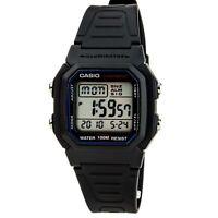 Casio Men's Watch Classic Dual Time Grey Digital Dial Black Resin Strap W800H-1A