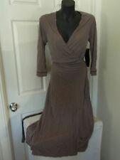 Cue Australia BNWT Black/Brown Wrap Dress Size 10 rrp $189 Nina Proudman B29