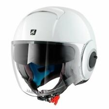 Shark Casque Nano Blank White Azur L