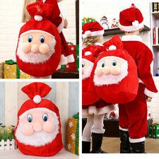 "19.6"" Christmas Candy Gift Bags Backpack Santa Claus Storage Bag Xmas Decoration"