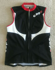 Capo Cycling Vest Women's Large L Sleeveless Bicycle Bicycling Black Red Italy