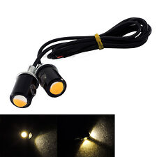 2x LED SMD Motorcycle&Car License Plate Screw Bolt Lamp Bulb Yellow Color Light