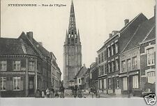 Steenwoorde Rue de l'Eglise  Kerck Church Old Unposted Postcard