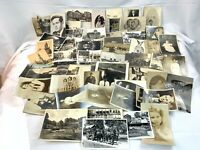 Vintage Postcard Album Lot 90 Postcards MIXED Photo Cards, People, Animal