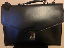 Classic Vintage Business Lawyer Doctor Briefcase Bag Black Presto Lock