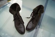 jenny Damen Winter Schuhe Stiefel Boots gefüttert Patchwork Leder Gr.6 G 39,5 #g