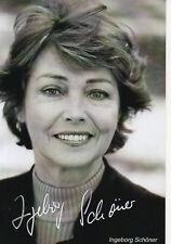 Autogramm - Ingeborg Schöner