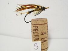 Vintage Salmon Gut Eye Fly Japanned Hook  Size 1