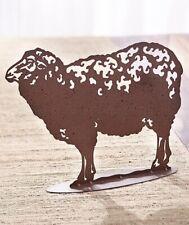 Sheep Metal Farm Animal Figure Country Farmhouse Statue Barn Kitchen Home Decor
