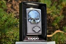 Zippo Lighter - Harley Davidson - Harley Skull - Willie G - Bar and Shield Rare
