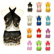 Fashion Rows Gold Coin Belly Dance Costume Hip Scarf Skirt Belt Dance Wrap KID's
