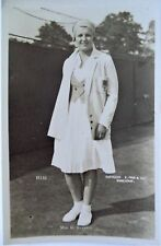 NUTHALL BETTY 1930's ORIGINAL VINTAGE PHOTOGRAPHIC TENNIS POSTCARD