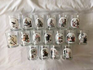 Norman Rockwell Glass Saturday Evening Post Glassware Collection Rocks Tumbler