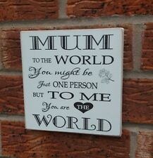 Mum Signs Mothers Day Birthday Christmas Gift Shabby Vintage Chic Sign Gift Idea