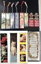 NEW! 12 Beautiful Bookmarks Tassel Inspirational Motivational Cat Puppy Quotes