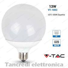Lampadina led V-TAC 13W = 75W E27 bianco naturale 4500K VT-1883 globo G120 smd