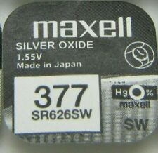 Maxell Watch Battery 1.55v Batteries Model - 377 - SR626SW UK SELLER