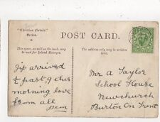 Mr A Taylor School House Newchurch Burton On Trent 1912  762a