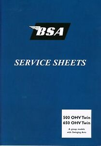 BSA Service Sheets Set A10 Road Rocket A7 Shooting Star A10 Gold Flash Twins