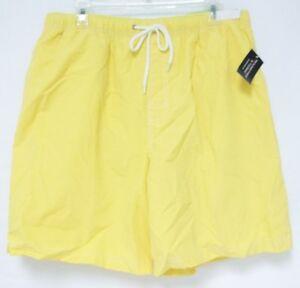 Roundtree & Yorke Size Large Bright Yellow New Mens Swimming Swim Trunks Shorts