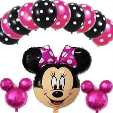 13pcs Mickey Minnie Mouse Party Decor Supplies Foil Ballons Kids Party Outdoor
