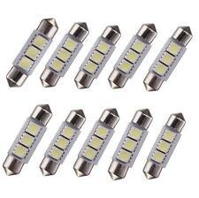 10 X White 36MM 3 LED 5050 SMD Festoon Dome Car Light Interior Lamp Bulb 12V TP