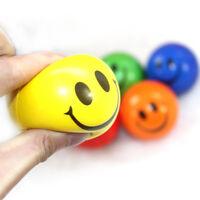 Smiley Anti Stress Abzubauen Ball Schaum Weich Bouncing Spielzeug Quetsch eNw DE
