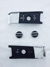 68-77 Corvette Door Lock Knob Kit insert Bezel Plate Inside Door Panel KIT