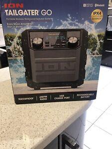 ION Tailgater GO Splash-Resistant Compact Wireless Bluetooth Portable Speaker