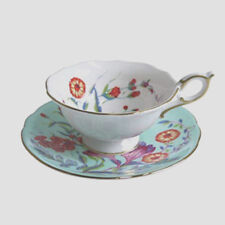 Wedgwood Harlequin Collection Turquoise Crocus Cup & Saucer - New