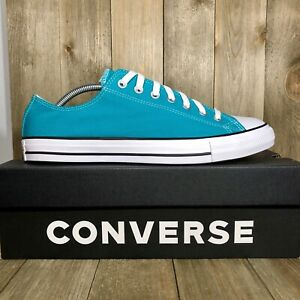 Converse Chuck Taylor All Star Low Top Turbo Green Sneakers 166267F Size 10.5