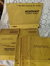 Heathkit Vintage Assembly Manuals Operation Manual Lot