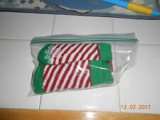 Pet Holiday Candy Cane Striped Slipper Dog Socks Size Small Set of 4 NEW