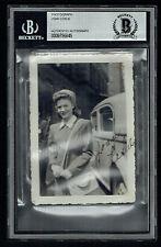 Joan Leslie signed autograph 3x4.5 Vintage 1940's Snapshot Photo BAS Slabbed
