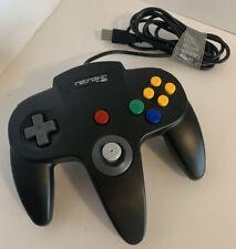 Retrolink Nintendo N64 Wired Usb Controller For Pc & Mac Black Classic...