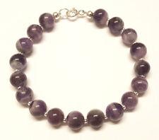 "Amethyst Beaded Natural 7.5 - 7.99"" Fine Gemstone Bracelets"