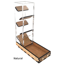 C4Labs - Tall Dice Tower with basic tray - Natural
