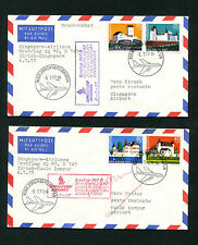 Zwei Belege Singapore Airlines - Vom 5.7.1977   (FP-30)