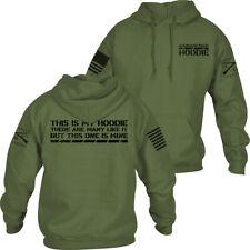 Grunt Style This Is My Hoodie Pullover Hoodie - Military Green