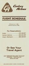 Century Airlines Timetable  August 25, 1980 =