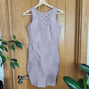 Missguided BNWOT Size 8 Purple Dusty Pink Bandage Dress Mesh Cut Out Night Out