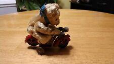 RARE/Vintage: Günthermann, Tin motorcycle with bear